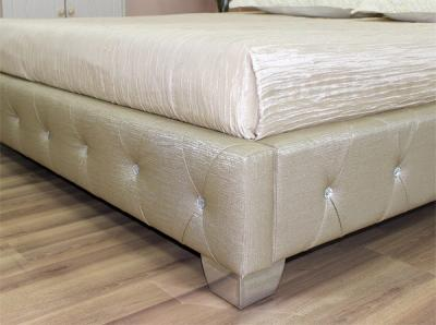 Полуторная кровать Королевство сна MOREE 140x200 (античный золотой с кристаллами) - ножка