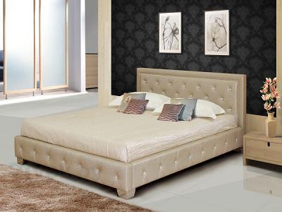 Двуспальная кровать Королевство сна MOREE 160x200 (античный золотой с кристаллами) - в интерьере