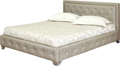 Двуспальная кровать Королевство сна MOREE 180x200 (античный золотой с кристаллами) - общий вид