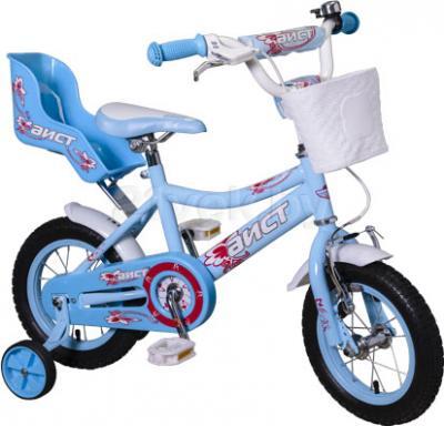 Детский велосипед Aist KB12-22 (сине-белый) - общий вид