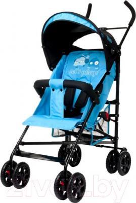 Детская прогулочная коляска 4Baby Rio (синий) - общий вид