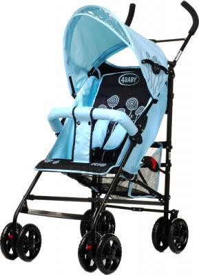 Детская прогулочная коляска 4Baby Rio (синий/черный) - общий вид