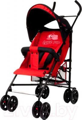 Детская прогулочная коляска 4Baby Rio (красный) - общий вид