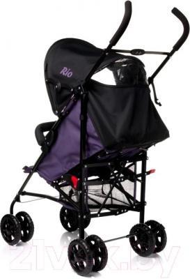 Детская прогулочная коляска 4Baby Rio (фиолетовый) - вид сзади