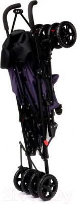 Детская прогулочная коляска 4Baby Rio (серый) - в сложенном виде