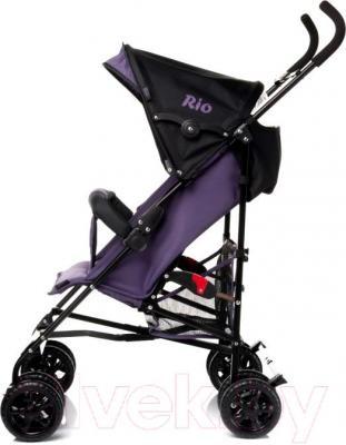 Детская прогулочная коляска 4Baby Rio (серый) - вид сбоку