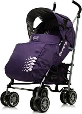 Детская прогулочная коляска 4Baby Shape (черный) - чехол для ног (цвет Purple)