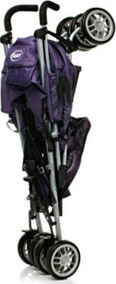 Детская прогулочная коляска 4Baby Shape (черный) - в сложенном виде (цвет Purple)
