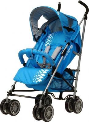 Детская прогулочная коляска 4Baby Shape (синий) - общий вид