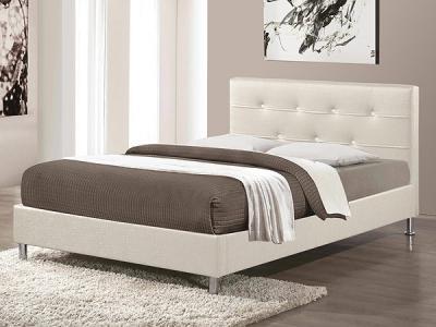 Двуспальная кровать Королевство сна Rizz (160x190 жемчужная) - в интерьере
