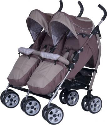 Детская прогулочная коляска EasyGo Duo Comfort (Chocolate) - общий вид