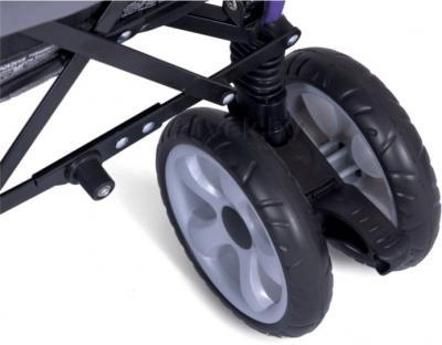 Детская прогулочная коляска EasyGo Duo Comfort (Chocolate) - колесо (цвет ultra violet)