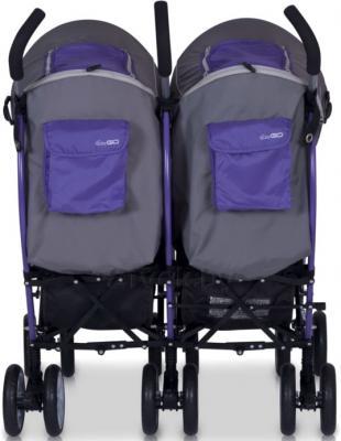 Детская прогулочная коляска EasyGo Duo Comfort (Carbon) - вид сзади (цвет ultra violet)