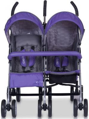Детская прогулочная коляска EasyGo Duo Comfort (Carbon) - вид спереди (цвет ultra violet)