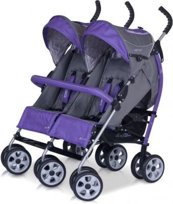 Детская прогулочная коляска EasyGo Duo Comfort (Carbon) - бампер (цвет ultra violet)