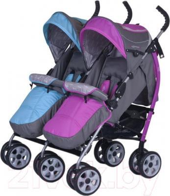 Детская прогулочная коляска EasyGo Duo Comfort (Mix) - общий вид