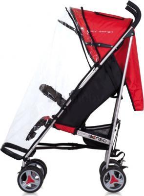Детская прогулочная коляска EasyGo Senso (Ocean Blue) - дождевик (цвет sport red)
