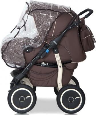 Детская универсальная коляска Riko Racer (Gray) - дождевик (цвет 09 chocolate)