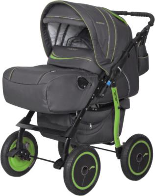 Детская универсальная коляска Riko Racer (Green) - общий вид