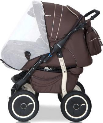 Детская универсальная коляска Riko Racer (Orange) - москитная сетка (цвет 09 chocolate)