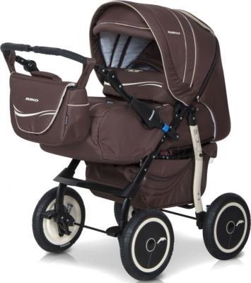 Детская универсальная коляска Riko Racer (Beige) - перекидная ручка (цвет 09 chocolate)