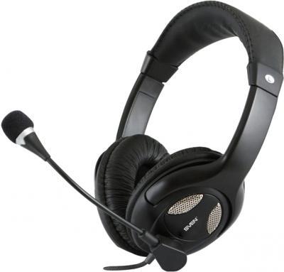 Наушники-гарнитура Sven AP-670MV (черный) - общий вид