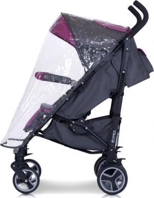 Детская прогулочная коляска Euro-Cart Ritmo (Carbon) - дождевик (цвет magenta)