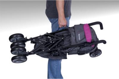 Детская прогулочная коляска Euro-Cart Ritmo (Pistachio) - в сложенном виде (цвет magenta)