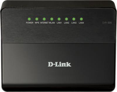 Беспроводной маршрутизатор D-Link DIR-300/A/D1A - фронтальный вид