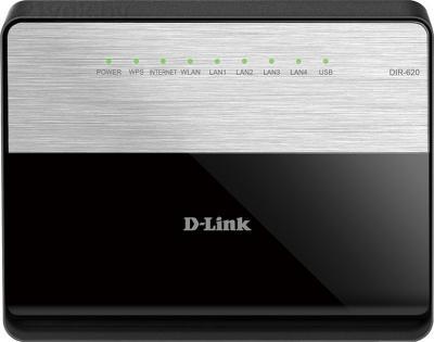 Беспроводной маршрутизатор D-Link DIR-620/D/F1A - фронтальный вид