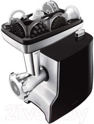 Мясорубка электрическая Philips HR2733/00 - хранение насадок