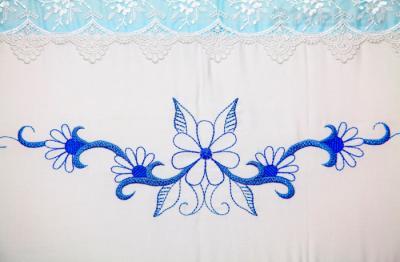 Комплект в кроватку Bombus Абэль 7 (голубой) - вышивка