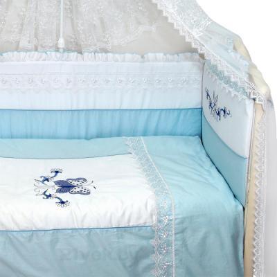 Комплект в кроватку Bombus Абэль 7 (голубой) - общий вид