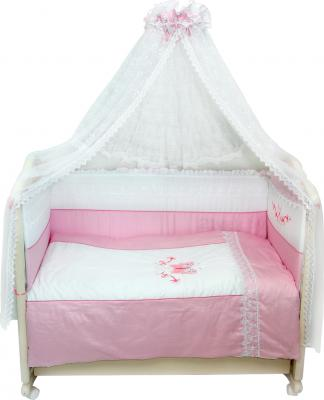Комплект в кроватку Bombus Абэль 7 (розовый) - общий вид