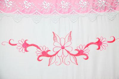 Комплект в кроватку Bombus Абэль 7 (розовый) - вышивка