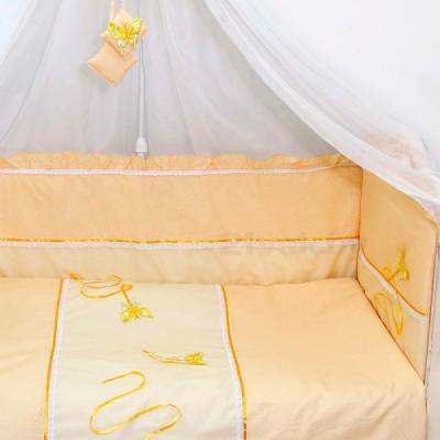 Комплект в кроватку Bombus Бабочки 7 (бежевый) - общий вид