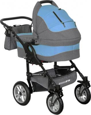 Детская универсальная коляска Riko Alpina FX 2 в 1 (Ocean Blue) - общий вид