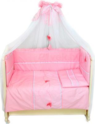 Комплект в кроватку Bombus Бабочки 7 (розовый) - общий вид