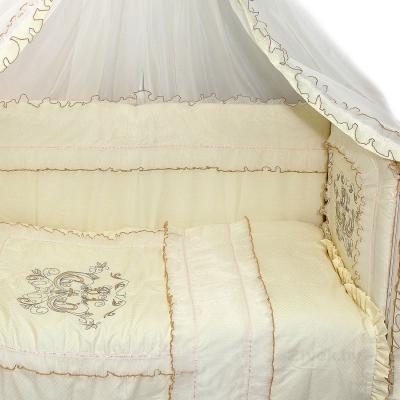 Комплект в кроватку Bombus Бэби Люкс 9 (бежевый) - общий вид