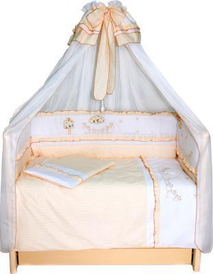 Комплект в кроватку Bombus Веселая семейка 7 (бежевый) - общий вид