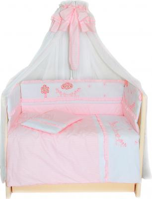 Комплект в кроватку Bombus Веселая семейка 7 (розовый) - общий вид