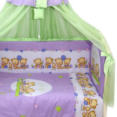 Комплект в кроватку Bombus Давай поиграем 8 (фиолетовый) - общий вид