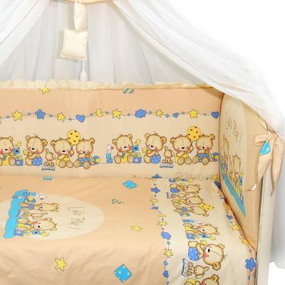 Комплект в кроватку Bombus Давай поиграем 8 (бежевый) - общий вид