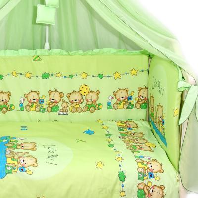 Комплект в кроватку Bombus Давай поиграем 8 (салатовый) - общий вид
