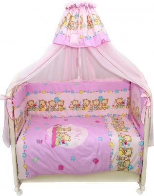 Комплект в кроватку Bombus Давай поиграем 8 (розовый) - общий вид