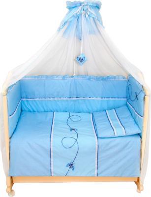 Комплект в кроватку Bombus Бабочки 3 (голубой) - общий вид