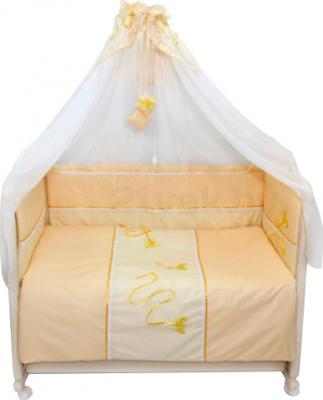 Комплект в кроватку Bombus Бабочки 3 (бежевый) - общий вид