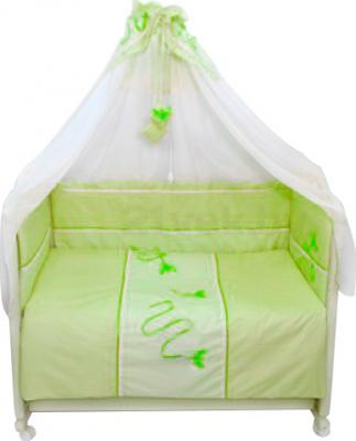 Комплект в кроватку Bombus Бабочки 3 (салатовый) - общий вид