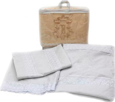 Комплект в кроватку Bombus Элит 3 (белый) - общий вид