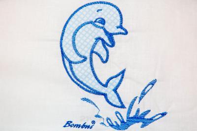 Комплект в кроватку Bombus Дельфинчик 7 (голубой) - вышивка